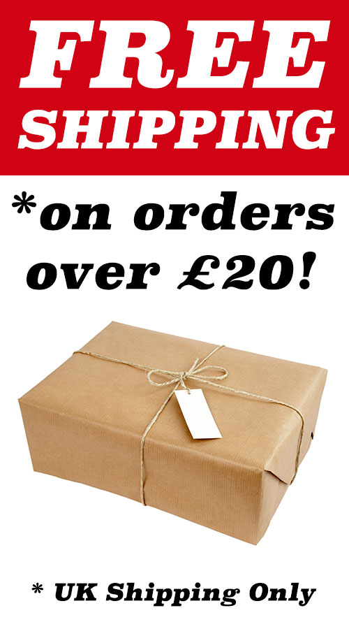 FREE UK Shipping on orders over £20
